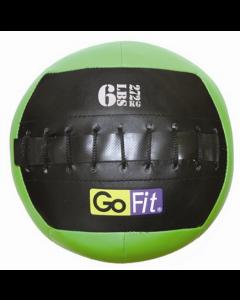 "GoFit 10"" Mini CrossFit-style Wall Ball Vinyl Medicine Ball w/ Manual - 6lbs"